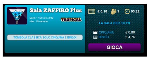 sala tropical giochi bingo yes