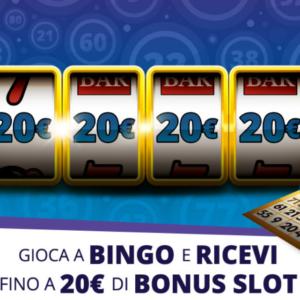 restituisce il 100% delle tue scommesse di bingo